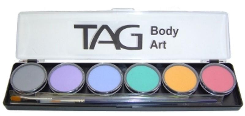 TAG Face & Body Paint - Pastels 6 Colour Palette