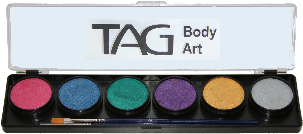 TAG Face & Body Paint - Pearl 6 Colour Palette