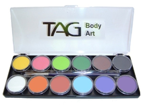 TAG Face & Body Paint - Regular 12 Colour Palette