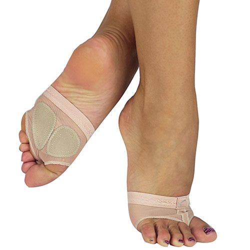 Clothing, Shoes & Accessories Dancewear Capezio Crystal FootUndeez Nude